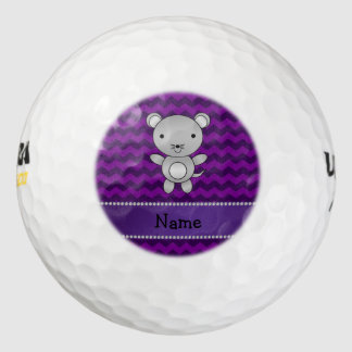 Galones conocidos personalizados de la púrpura del pack de pelotas de golf