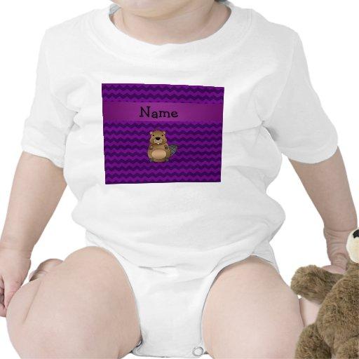 Galones conocidos personalizados de la púrpura del camisetas