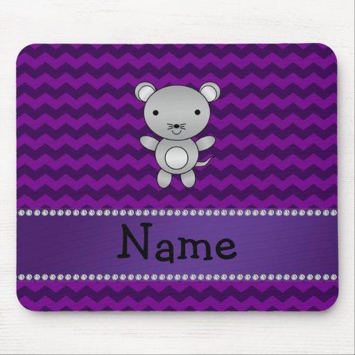 Galones conocidos personalizados de la púrpura del alfombrillas de ratones
