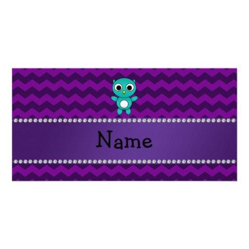 Galones conocidos personalizados de la púrpura del tarjeta personal