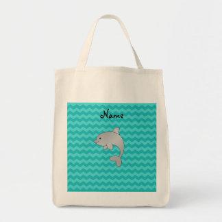 Galones conocidos personalizados de la turquesa bolsa tela para la compra