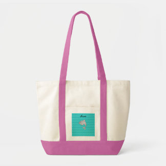 Galones conocidos personalizados de la turquesa de bolsa tela impulso