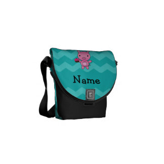 Galones conocidos personalizados de la turquesa de bolsas messenger