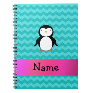 Galones conocidos personalizados de la turquesa de spiral notebooks