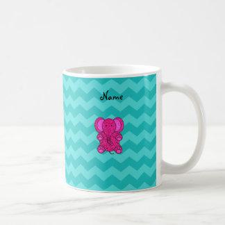 Galones conocidos personalizados de la turquesa de taza de café
