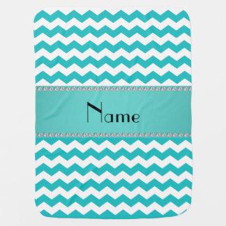 Galones conocidos personalizados de la turquesa mantas de bebé