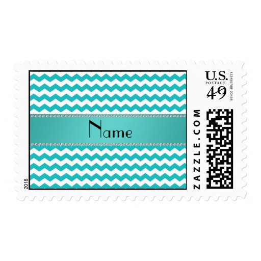 Galones conocidos personalizados de la turquesa timbres postales