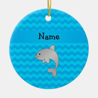 Galones conocidos personalizados del azul del delf adorno
