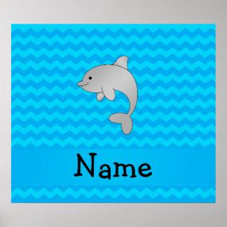 Galones conocidos personalizados del azul del delf impresiones