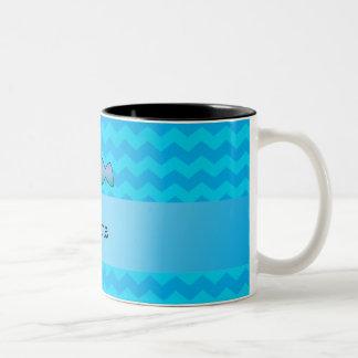 Galones conocidos personalizados del azul del mana taza