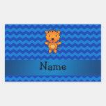 Galones conocidos personalizados del azul del tigr rectangular altavoces