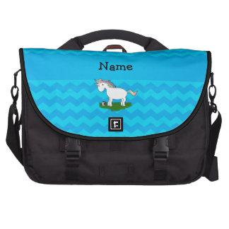 Galones conocidos personalizados del azul del unic bolsas para portatil