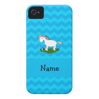 Galones conocidos personalizados del azul del unic iPhone 4 Case-Mate cobertura