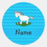 Galones conocidos personalizados del azul del unic etiqueta