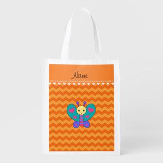 Galones conocidos personalizados del naranja de la bolsas para la compra