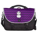 Galones de la púrpura de la panda del bebé bolsa de ordenador