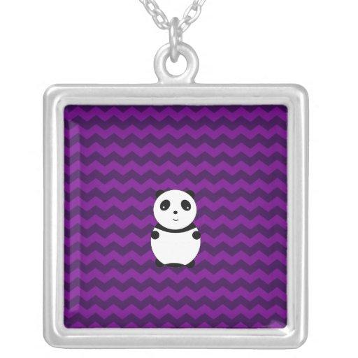 Galones de la púrpura de la panda del bebé pendiente personalizado