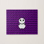 Galones de la púrpura de la panda del bebé rompecabezas