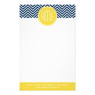 Galones de los azules marinos con el monograma ama papeleria personalizada