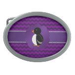 Galones de lujo de la púrpura del pingüino hebilla cinturón