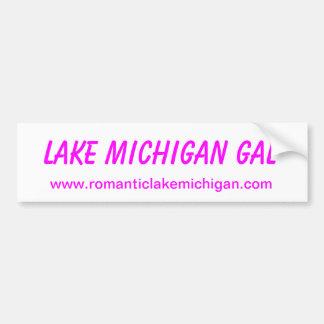 Galones de pegatina para el parachoques del lago M Pegatina Para Auto