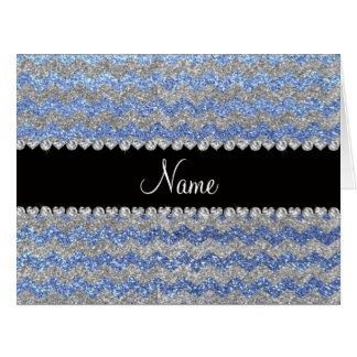 Galones de plata azules claros conocidos de encarg tarjetas