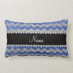 Galones de plata azules conocidos personalizados d almohada