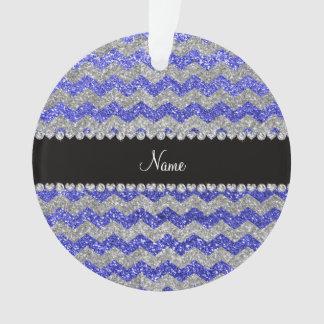 Galones de plata azules de neón conocidos de