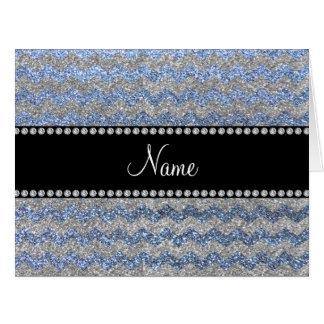 Galones de plata azules en colores pastel conocido tarjetón