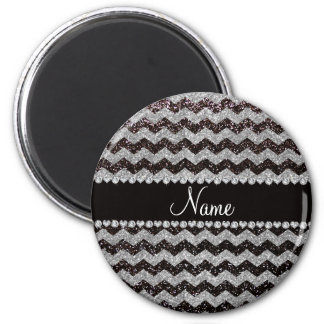 Galones de plata negros conocidos personalizados d imán de frigorifico