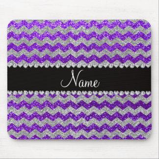 Galones de plata púrpuras del brillo del añil cono tapete de ratón