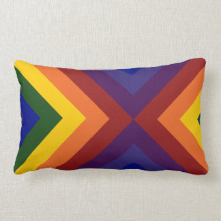 Galones del arco iris cojín