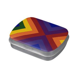 Galones del arco iris latas de caramelos