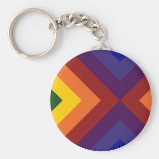 Galones del arco iris llavero redondo tipo pin