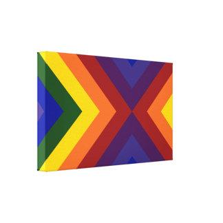 Galones del arco iris lona estirada galerias
