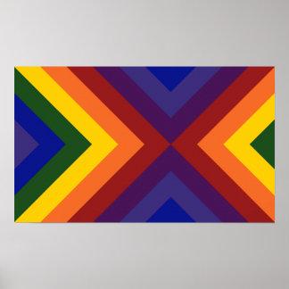 Galones del arco iris póster