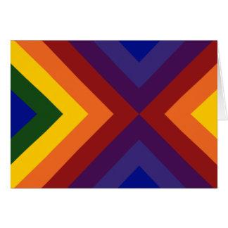 Galones del arco iris tarjeta de felicitación