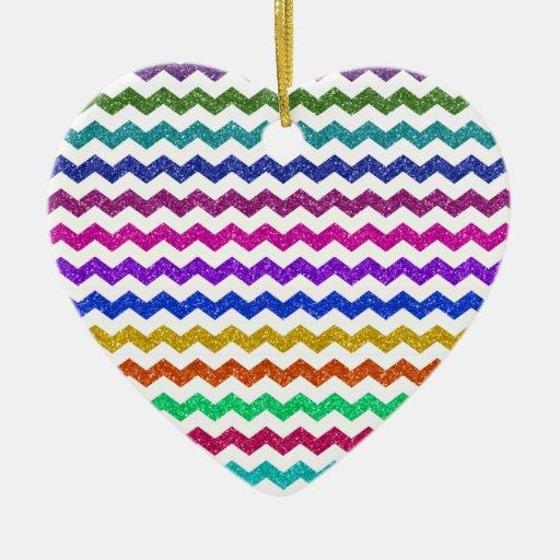 Galones del brillo del arco iris adornos