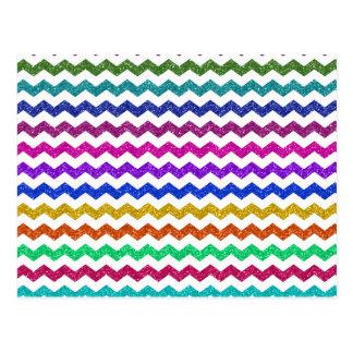 Galones del brillo del arco iris tarjetas postales