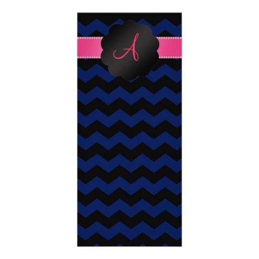 Galones del negro de azules marinos del monograma lona publicitaria