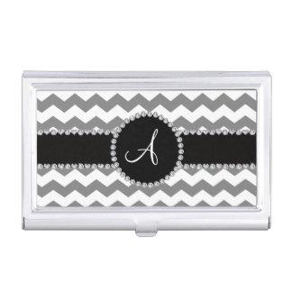 Galones grises blancos cones monograma cajas de tarjetas de visita