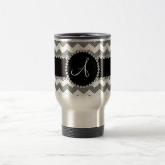 Galones grises blancos cones monograma taza de viaje de acero inoxidable