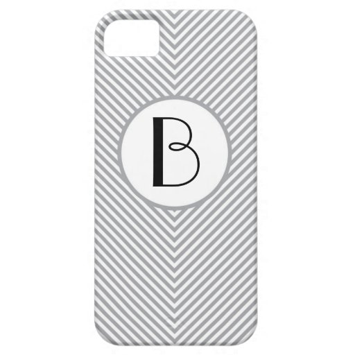 Galones grises personalizados iPhone 5 fundas