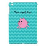 Galones lindos de la turquesa del cerdo iPad mini protectores