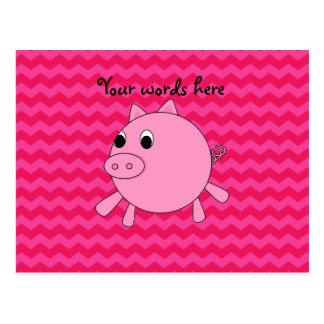 Galones lindos del rosa del cerdo postales