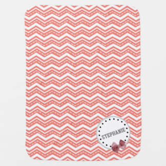 Galones lindos, puntos, y A01 rosado y blanco del Mantitas Para Bebé
