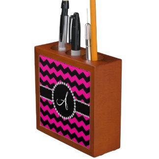 Galones negros rosados de neón cones monograma