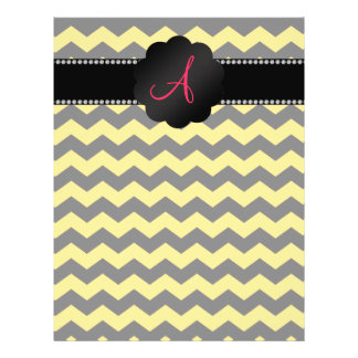 Galones negros y amarillos del monograma tarjetón