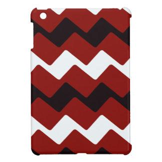 Galones ondulados rojos, blancos y negros