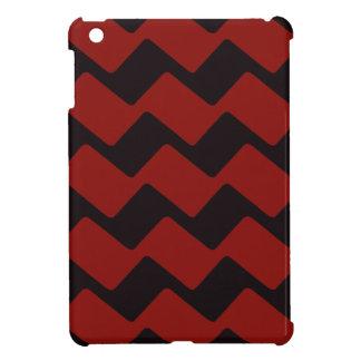 Galones ondulados rojos y negros